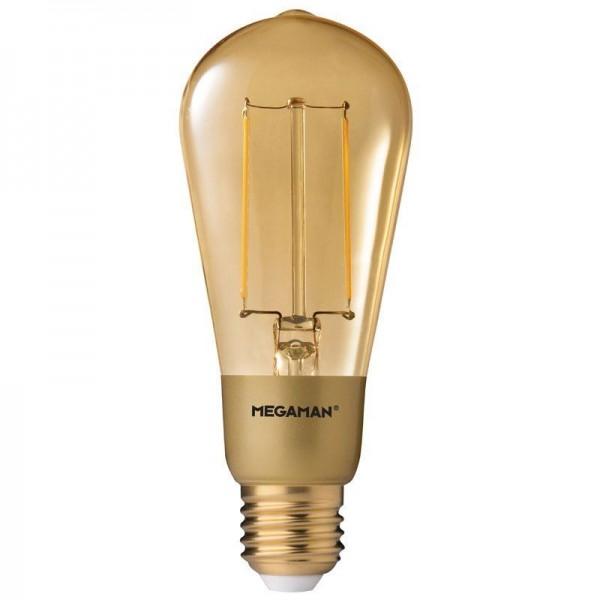 SONDERPOSTEN - Megaman LED Classic Smart Vintage 3W Extrawarmweiß 210lm-E27/822 dimmbar MM21074