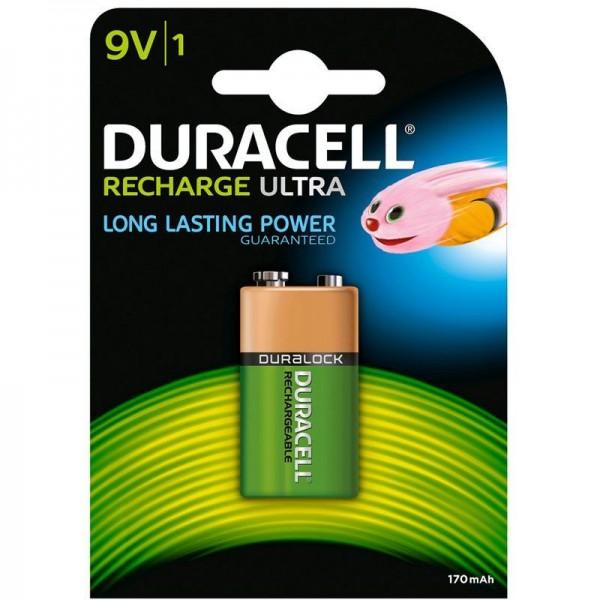 SONDERPOSTEN - Duracell Akku Recharge Ultra 9V B1 170 mAh 1er Blister