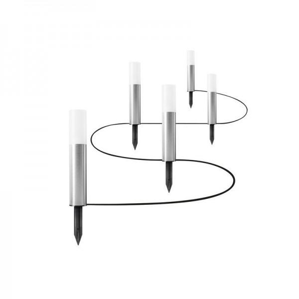 Osram LED Boden-Lichterkette Endura Garden Pole Mini 5,5W/830 250lm warmweiß nicht dimmbar silber IP44