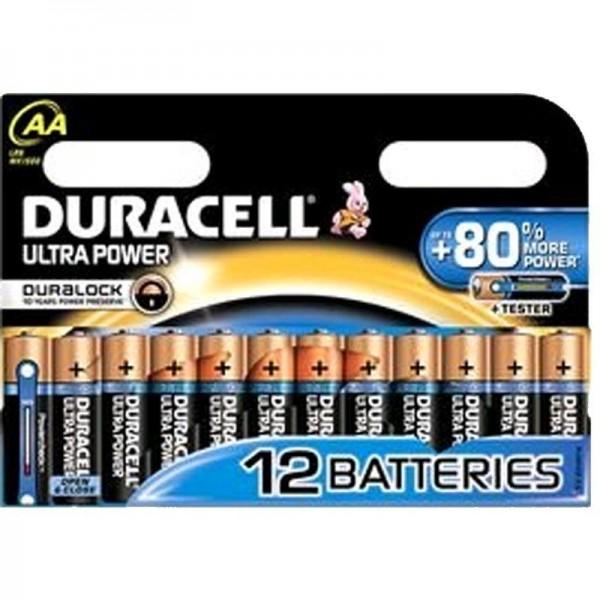 Duracell Batterien Ultra Power MX1500 AA BPH 12er Blister