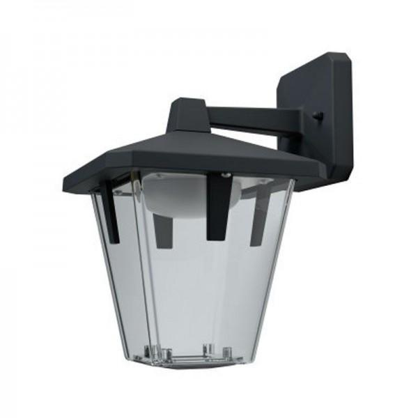 Osram LED Wandleuchte Endura Style Lantern Classic Down 11,5W/830 550lm warmweiß nicht dimmbar schwarz IP44