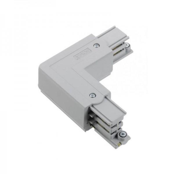 Winkelverbinder mit Einspeisemöglichkeit XTS 34 grau links