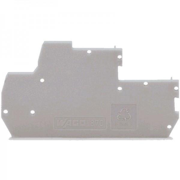 Wago Abschluss- und Zwischenplatte 870-118 (1 Stück)