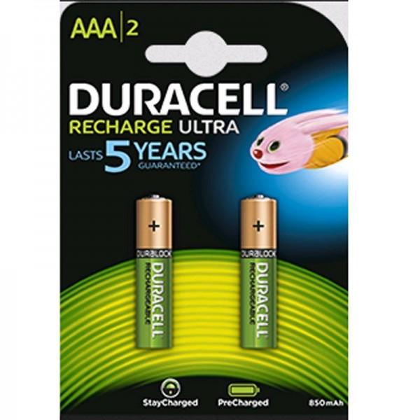 Duracell Akku Recharge Ultra AAA B2 850 mAh Precharged 2er Blister