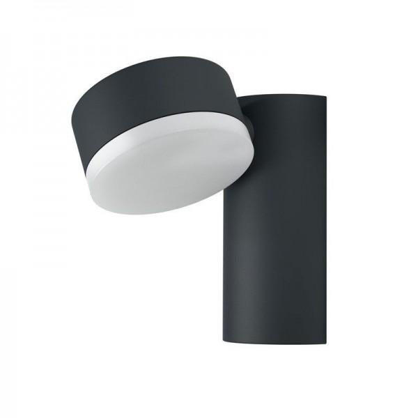 Osram LED Wandleuchte Endura Style Spot Round 8W/830 440lm warmweiß nicht dimmbar dunkelgrau IP44