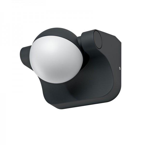 Osram LED Wandleuchte Endura Style Sphere 8W/830 600lm warmweiß nicht dimmbar dunkelgrau IP44