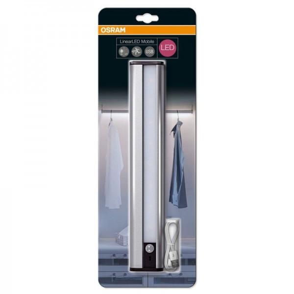 Osram LinearLED Mobile USB 300 1.5W/840 silber 150lm kaltweiß inkl. Bewegungssensor nicht dimmbar Blister