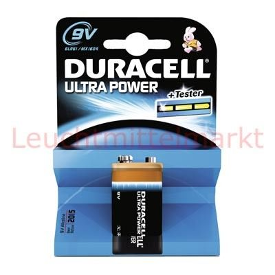 Duracell Batterien Ultra Power DUP9V 9V 1er Blister