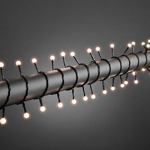 SONDERPOSTEN - Konstsmide LED Globelichterkette inkl. Außentrafo mit 80 runden Dioden Gesamtlänge 11