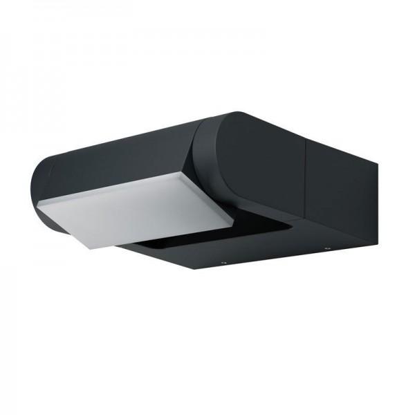 Osram LED Wandleuchte Endura Style Spot Square 8W/830 330lm warmweiß nicht dimmbar dunkelgrau IP44