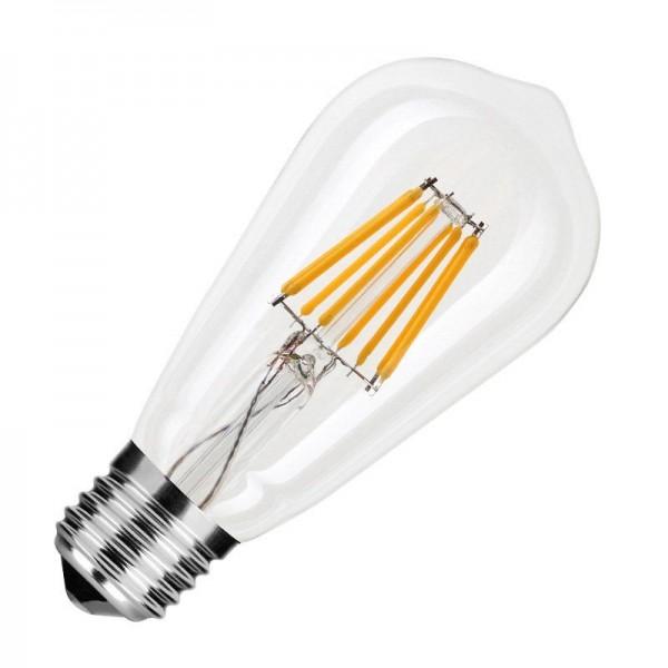Modee LED Filament ST58 8-60W/827 E27 750lm klar echt warmweiß nicht dimmbar Birnenform 360° ersetzt 60W