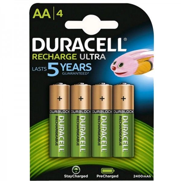 Duracell Akku Recharge Ultra AA B2 2400 mAh Precharged 4er Blister