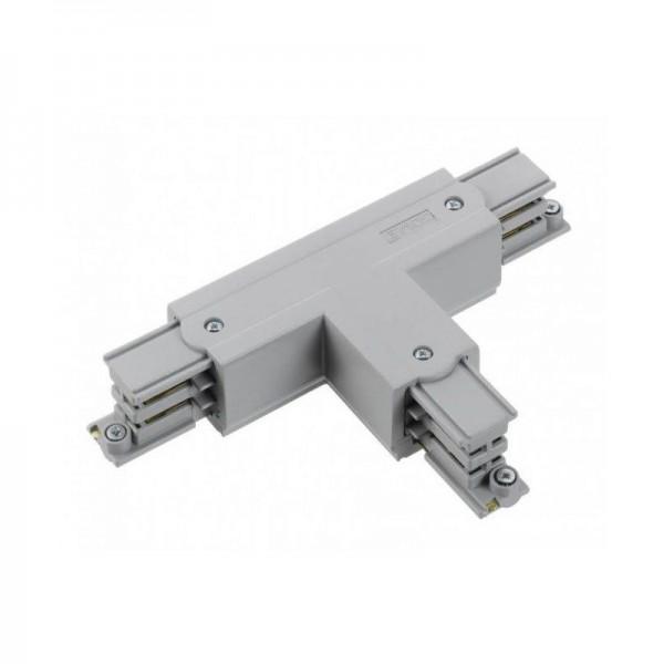T-Verbinder mit Einspeisemöglichkeit XTS 37 grau Null innen und rechts