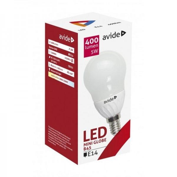 SONDERPOSTEN - Avide LED Mini Globe B45 5W E14 WW warmweiß 2900-3300K