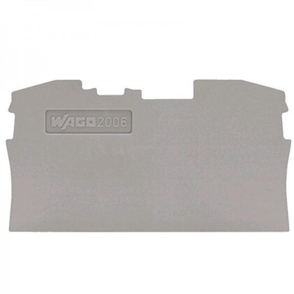 Wago Abschluss- und Zwischenplatte 2006-1291 (1 Stück)