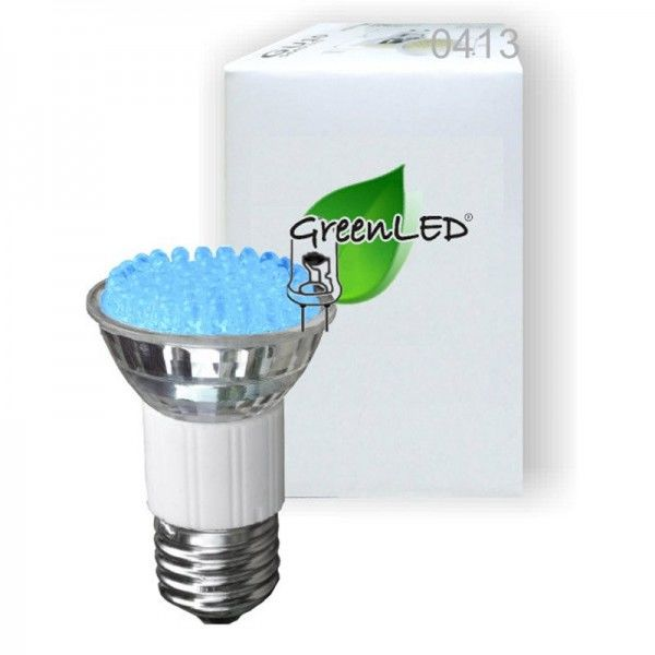 SONDERPOSTEN - GreenLED 2.5W E27 blau LEDs 0413