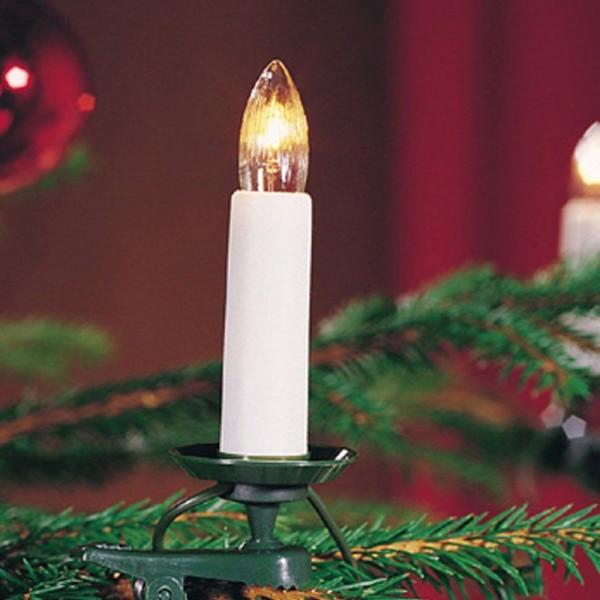 SONDERPOSTEN - Konstsmide Weihnachtsbaum-Beleuchtung mit 16 klaren Birnen Gesamtlänge 910cm teilbarer Stecker warmweiß