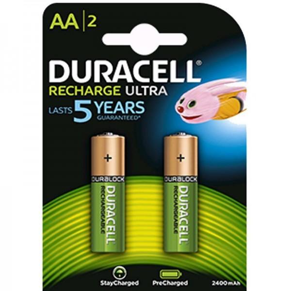 Duracell Akku Recharge Ultra AA B2 2400 mAh Precharged 2er Blister