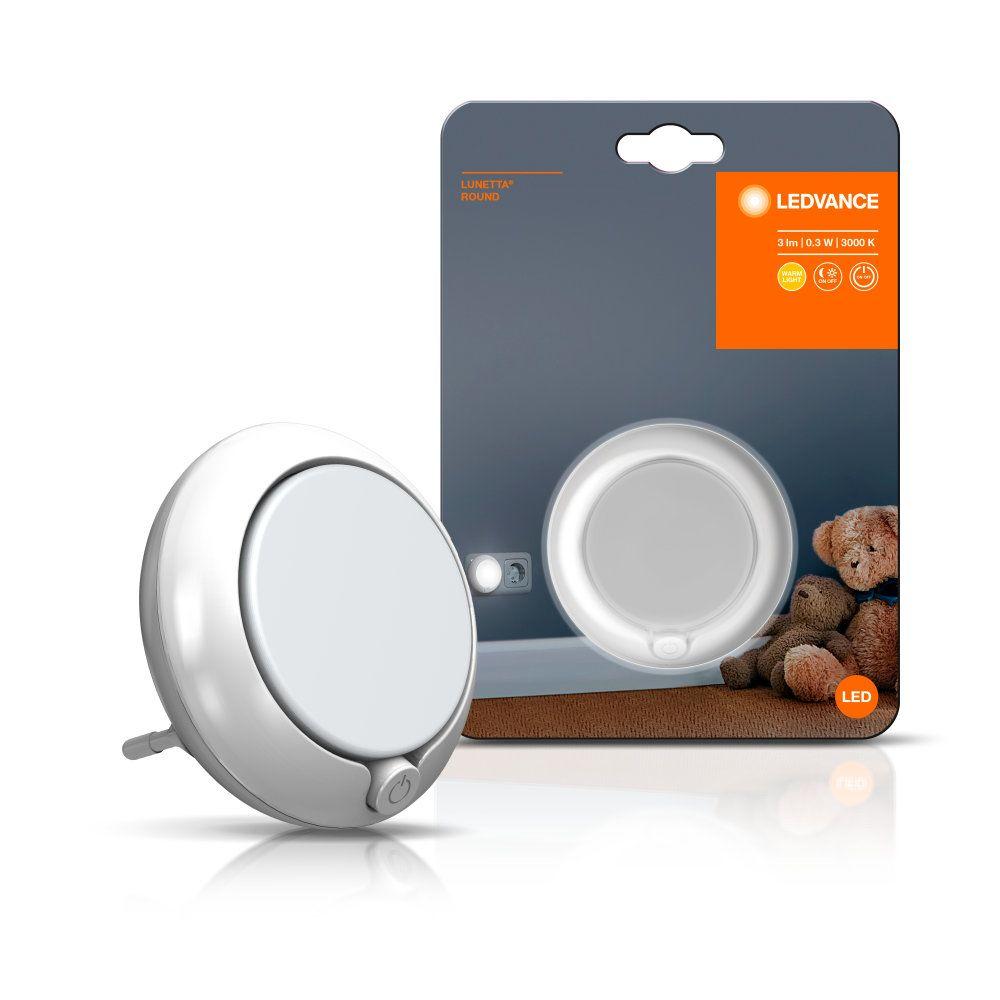 OSRAM LUNETTA Round Weiß Steckdosen-Nachtlichter mit An//Aus Schalter