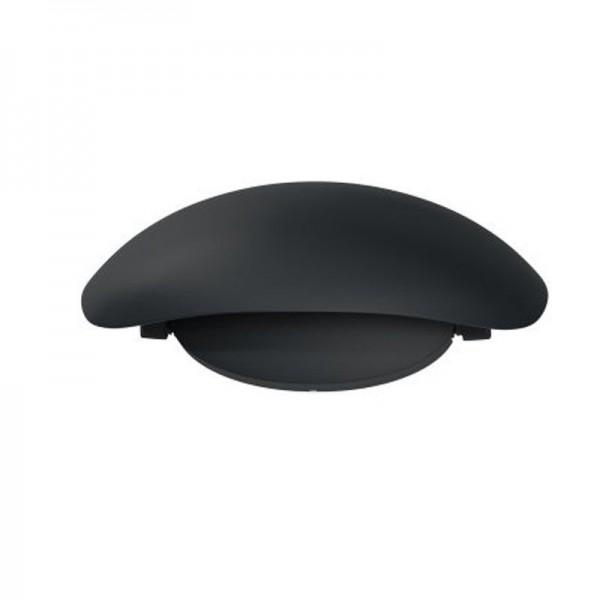 Osram LED Wandleuchte Endura Style Cover Oval 11,5W/830 340lm warmweiß nicht dimmbar dunkelgrau IP44