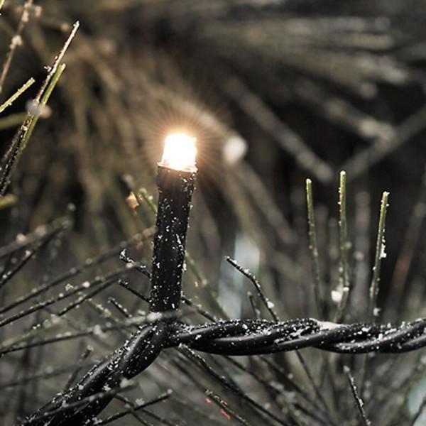SONDERPOSTEN - Konstsmide Micro LED Lichterkette inkl. Außentrafo mit 120 Dioden Kabelfarbe schwarz Gesamtlänge 2904cm warmweiß