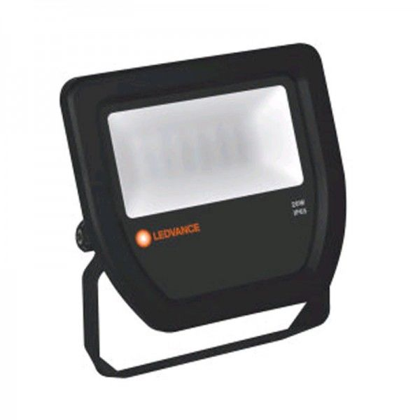 Ledvance Floodlight LED 20W/3000K Black IP65 2100lm warmweiß nicht dimmbar