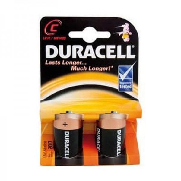 Duracell Batterien Basic DBC C 2er Blister