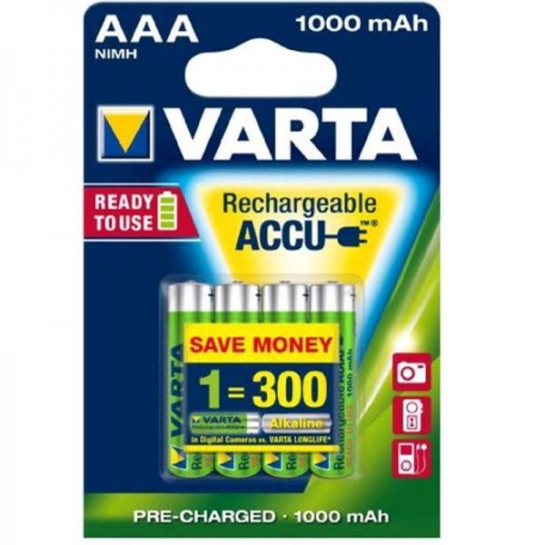 Varta Akku Ready2Use AAA 05703 1000mAh 4er Blister