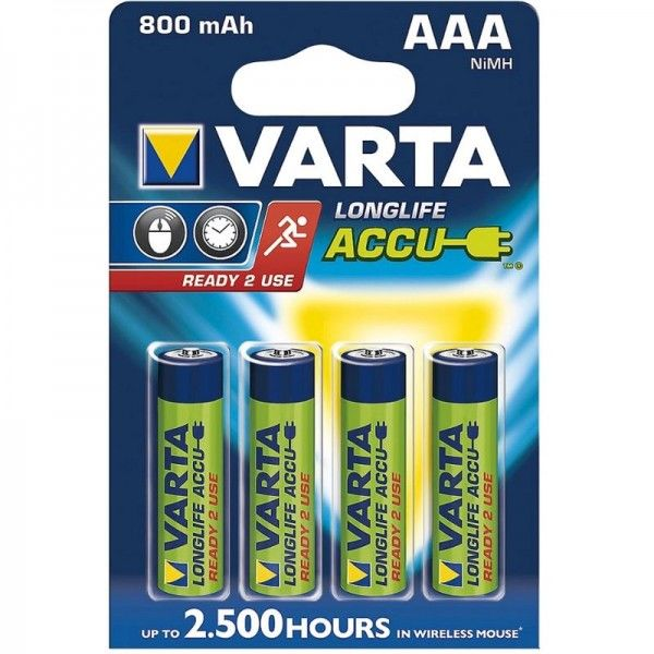 Varta Akku Ready2Use AAA 56703 800mAh 4er Blister