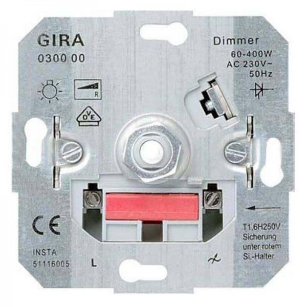 Gira Glühlampen-Dimm-Einsatz mit Dreh-Ausschalter 030000