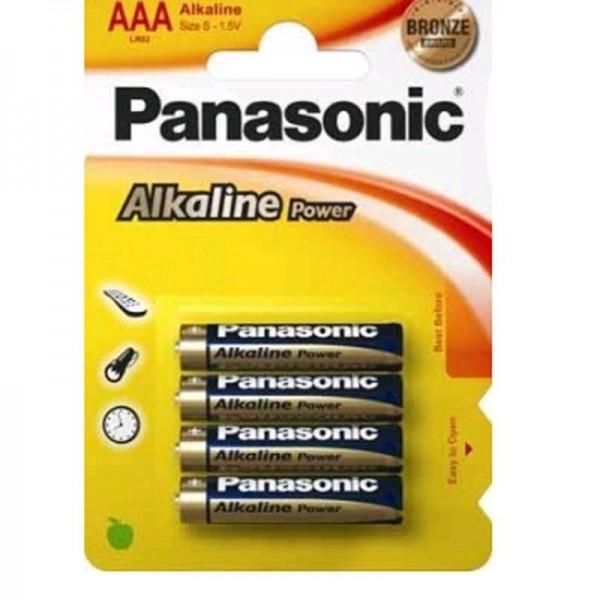 Panasonic Batterie Alkaline Power AAA 1,5V 4er Blister