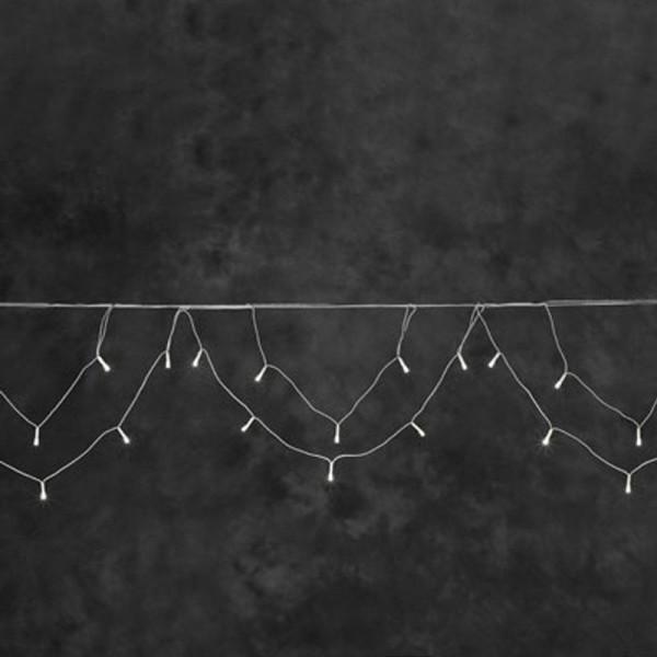 SONDERPOSTEN - Konstsmide LED Lichterkette für Dachrinnen in Bogenform inkl. Außentrafo mit 200 Diod