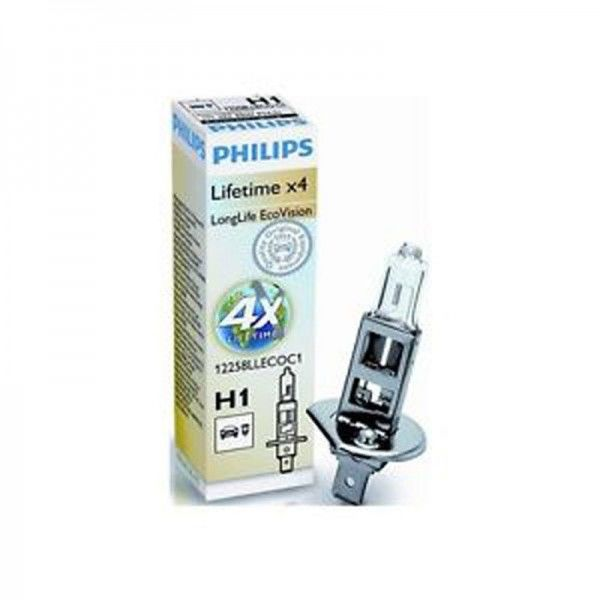 Philips Autolampe H1 LongLife EcoVision C1 55W 12V P14,5s 12258LLECOC1