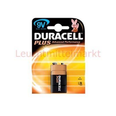 Duracell Batterien Plus Power DP9V 9V 1er Blister