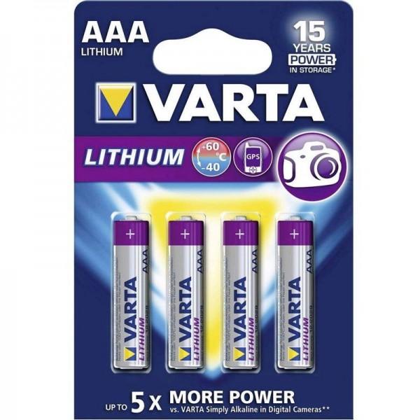 Varta Professional Lithium AAA 06103 4er Blister