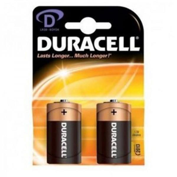 Duracell Batterien Basic DBD D 2er Blister