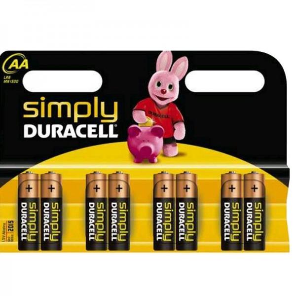 Duracell Batterien Simply MN1500 - AA K 8er Blister