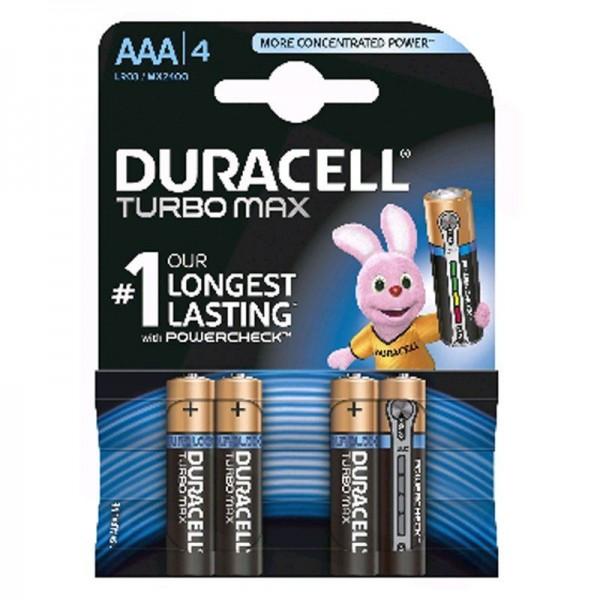 Duracell Batterien Turbo DTAAA AAA 4er Blister