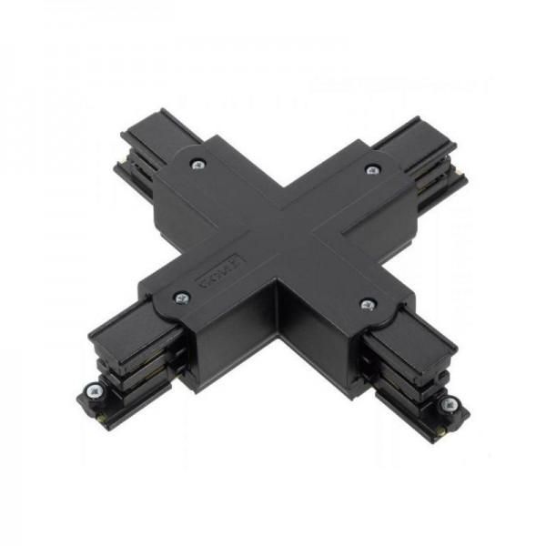Kreuz-Verbinder mit Einspeisemöglichkeit XTS 38 schwarz