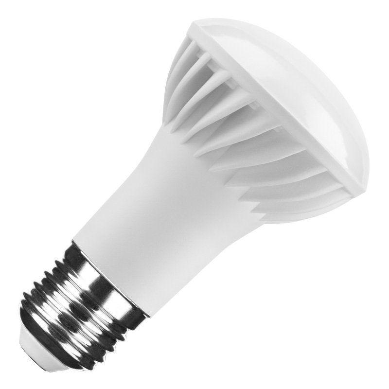 Modee LED R63 7 42W827 E27 110° 500lm echt warmweiß nicht dimmbar Reflektorform weiß 25000h ersetzt 42W