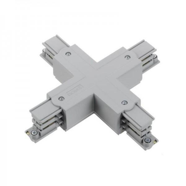 Kreuz-Verbinder mit Einspeisemöglichkeit XTS 38 grau