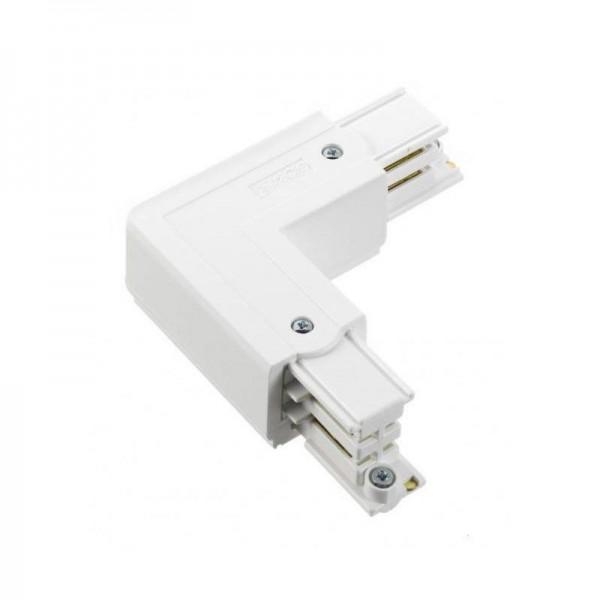 Winkelverbinder mit Einspeisemöglichkeit XTS 35 weiß rechts