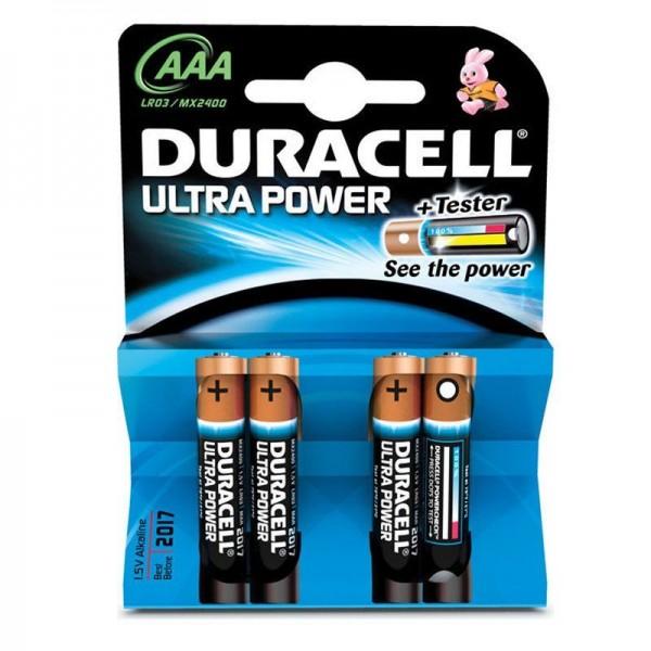 Duracell Batterien Ultra Power DUPAAA AAA 4er Blister