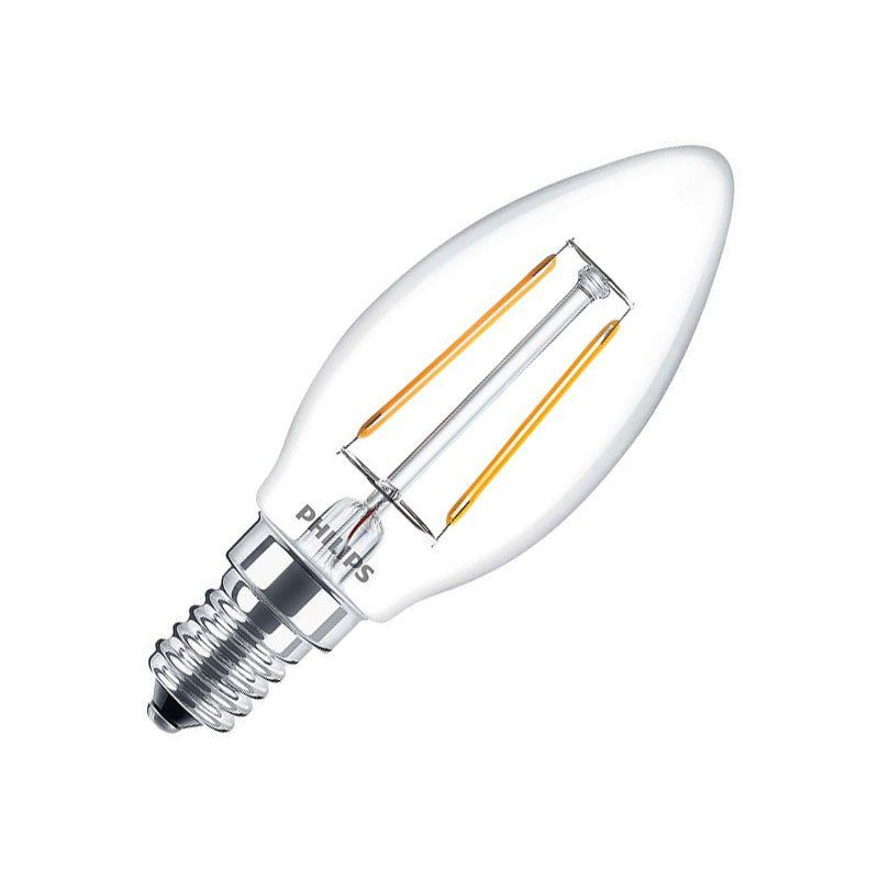 Philips Filament Classic LEDCandle 2 25W827 E14 warmweiß nicht dimmbar B35 klar