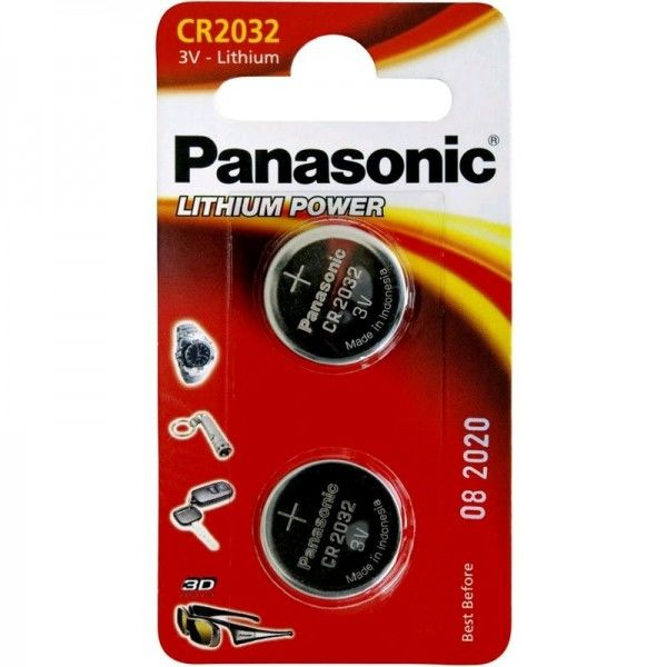 Panasonic Knopfzelle Lithium Power CR2032 3V 2er Blister