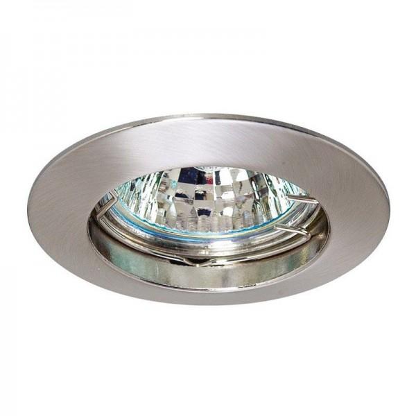 SONDERPOSTEN - I-Light Einbaustrahler Fix Nickel satiniert für MR 16 Lampe
