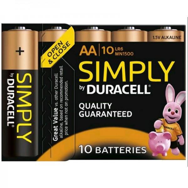 Duracell Batterien Simply MN1500 - AA BP 10er Blister