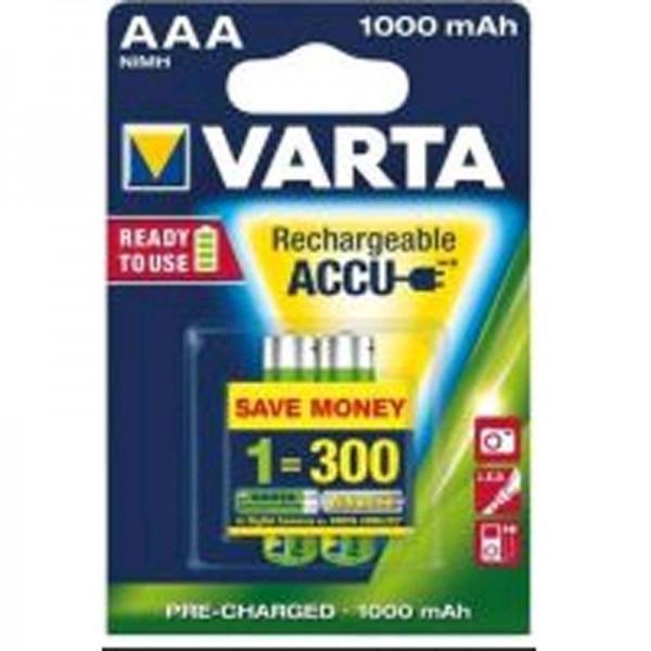 SONDERPOSTEN - Varta Akku Ready2Use AAA 05703 1000mAh 2er Blister