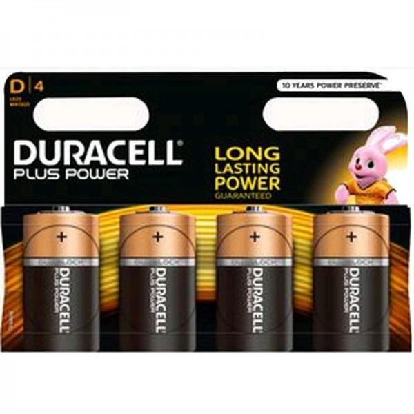 Duracell Batterien Plus Power MN1300 - D K 4er Blister