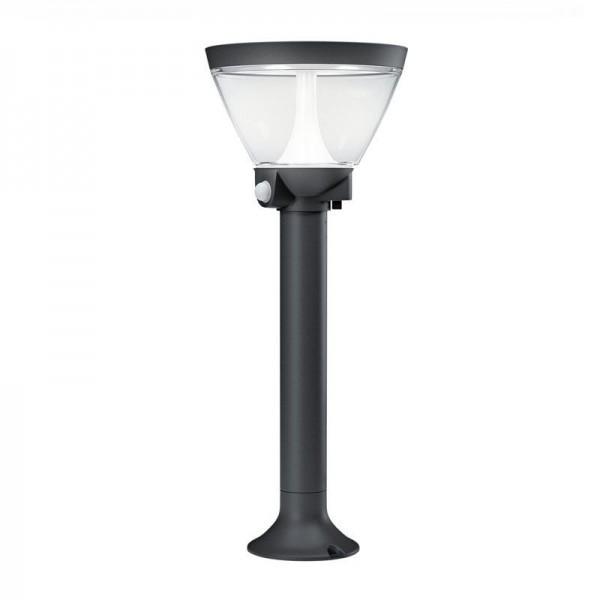 Osram LED Bodenleuchte Endura Style Lantern Solar/AC 53cm 7,5W/830 300lm warmweiß nicht dimmbar dunkelgrau IP44